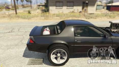 IROC-Z Big V8 Drag Car для GTA 5 вид сзади справа