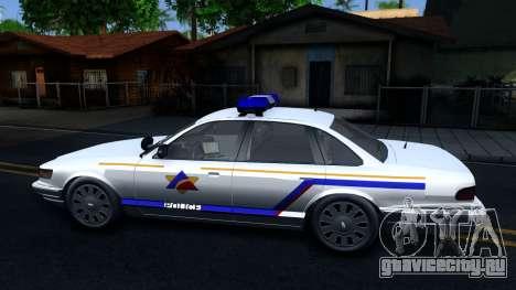 Vapid Stanier Hometown Police Department 2004 для GTA San Andreas вид слева