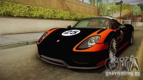 Porsche 918 Spyder 2013 Weissach Package EU для GTA San Andreas