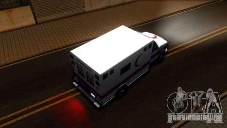 Ambulance Malaysia для GTA San Andreas вид сзади
