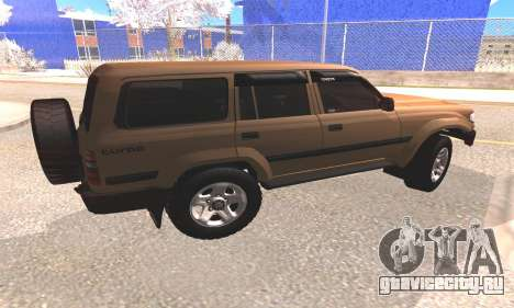 Toyota Land Cruiser 80 для GTA San Andreas вид сзади слева