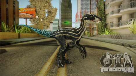Primal Carnage Velociraptor Blue Tailed для GTA San Andreas второй скриншот