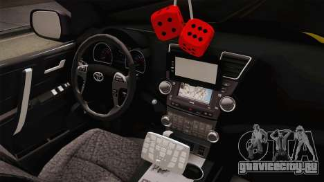 Toyota Hilux 2016 Patrulla Caminera Del Paraguay для GTA San Andreas вид изнутри