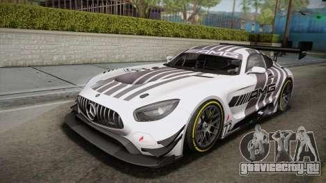 Mercedes-Benz AMG GT3 2016 PJ для GTA San Andreas вид слева