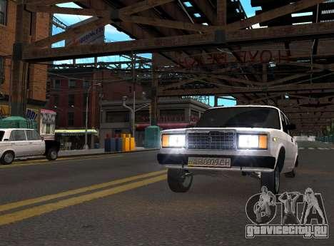 VAZ 2107 AZELOW для GTA 4 вид справа