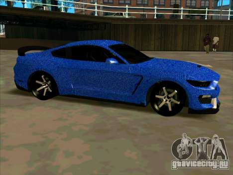 Ford Mustang BLUE STYLE для GTA San Andreas вид слева