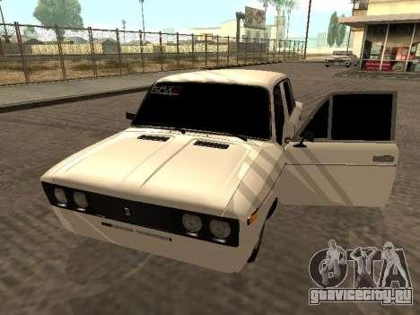 ВАЗ 2106 БПАН Armenian для GTA San Andreas вид сзади