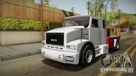 GTA 5 Brute Utility Truck IVF для GTA San Andreas вид справа