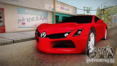 Mercedes-Benz Concept для GTA San Andreas вид сзади слева