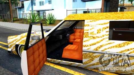 LoW RiDeR RoMeR0 для GTA San Andreas вид изнутри