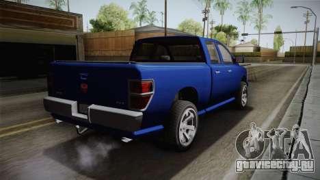 GTA 5 Bravado Bison для GTA San Andreas вид слева