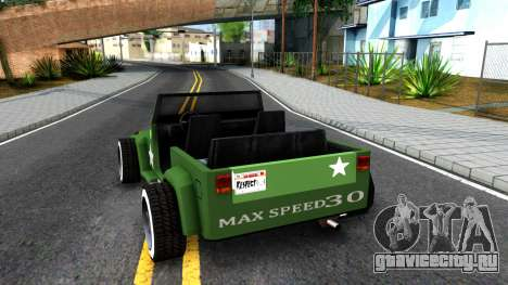 Rat Rod Mesa для GTA San Andreas вид сзади слева