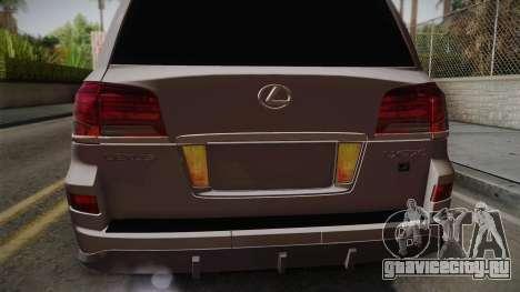 Lexus LX570 F-Sport Design для GTA San Andreas вид сзади