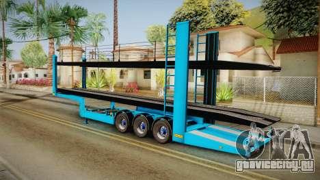 Car Trailer JTZ для GTA San Andreas вид слева