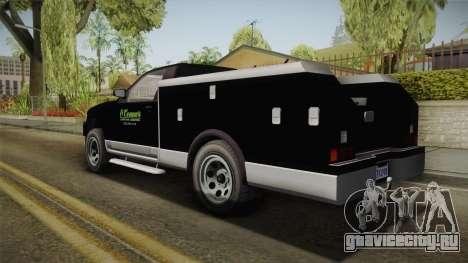 GTA 5 Vapid Utility Van для GTA San Andreas вид слева