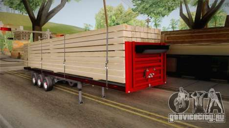 Flatbed Trailer Red для GTA San Andreas вид справа
