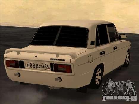 Ваз-2106 Colxoz для GTA San Andreas вид сзади слева