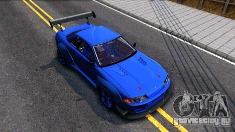 Nissan Skyline GTR R32 Rocket Bunny для GTA San Andreas вид справа