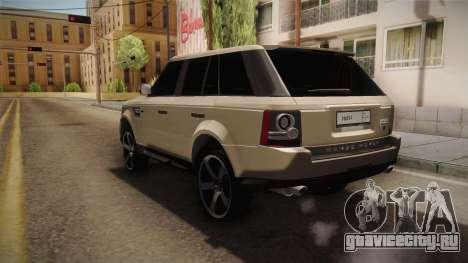 Land Rover Range Rover 2015 Sport для GTA San Andreas вид слева