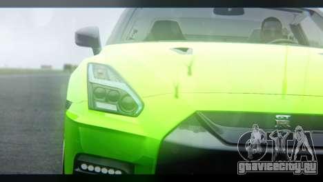 Nissan GT-R Nismo 2017 для GTA San Andreas вид сбоку