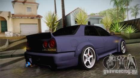 Nissan Skyline ER34 Rocket Bunny для GTA San Andreas вид изнутри