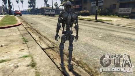 Terminator T-800 для GTA 5 третий скриншот