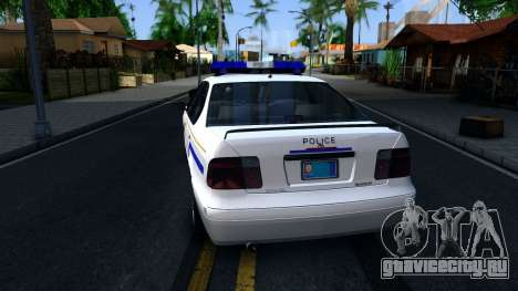 Declasse Merit Hometown Police Department 2004 для GTA San Andreas вид сзади слева