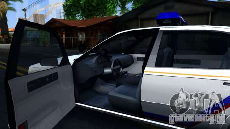 Declasse Merit Hometown Police Department 2004 для GTA San Andreas вид изнутри