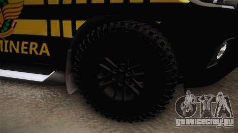 Toyota Hilux 2016 Patrulla Caminera Del Paraguay для GTA San Andreas вид сзади