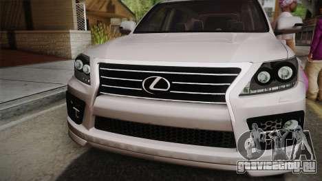 Lexus LX570 F-Sport Design для GTA San Andreas вид справа