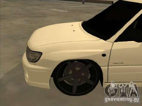 Subaru Forester для GTA San Andreas вид сверху