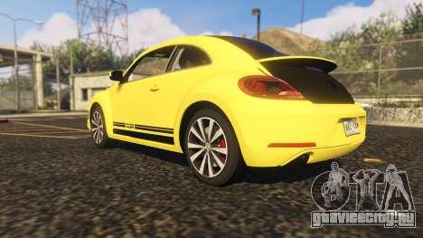 Limited Edition VW Beetle GSR 2012 для GTA 5 вид сзади слева
