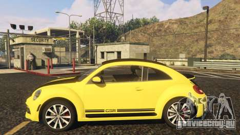 Limited Edition VW Beetle GSR 2012 для GTA 5 вид слева