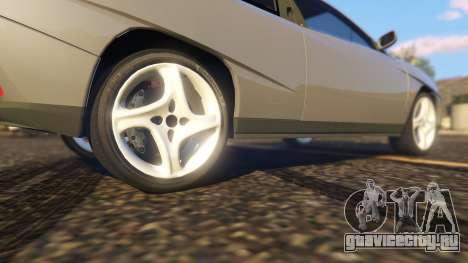 Fiat Coupe для GTA 5 вид сзади справа