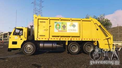 Portugal, Madeira Garbage Truck CMF Skin для GTA 5 вид слева