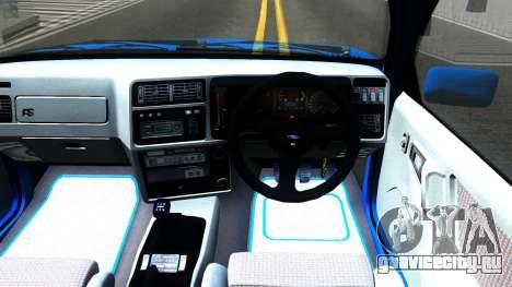 Ford Sierra RS500 Cosworth для GTA San Andreas вид изнутри