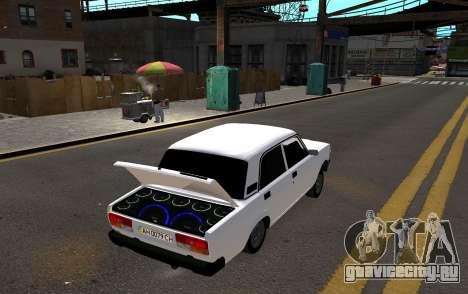 VAZ 2107 AZELOW для GTA 4 вид сзади слева