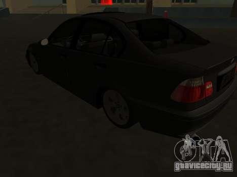 BMW 320i Armenian для GTA San Andreas вид сзади