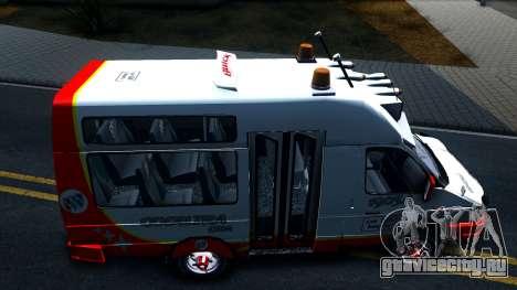 Iveco Turbo Daily V2 для GTA San Andreas вид сзади