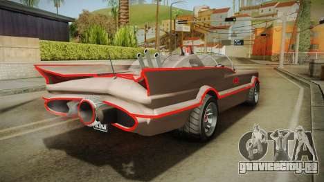 GTA 5 Vapid Peyote Batmobile 66 IVF для GTA San Andreas вид сзади слева