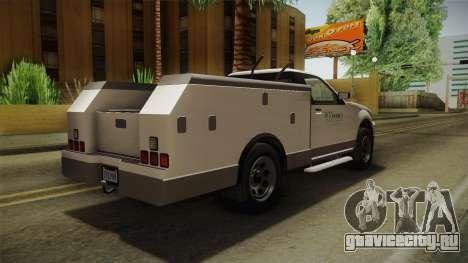 GTA 5 Vapid Utility Van IVF для GTA San Andreas вид справа