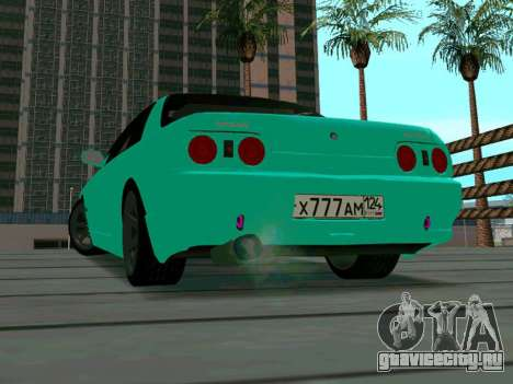 Nissan Skyline R-32 CITY STYLE STOK для GTA San Andreas вид сзади