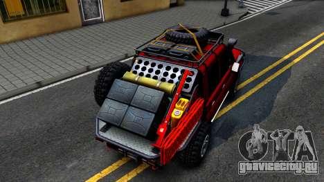 Toyota Land Cruiser 70 Off-Road V2.0 для GTA San Andreas вид сзади