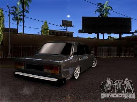 ВАЗ 2105 БПАН для GTA San Andreas вид сзади