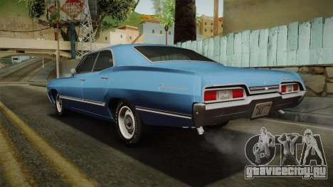 Chevrolet Impala Sport Sedan 396 Turbo-Jet 1967 для GTA San Andreas вид слева