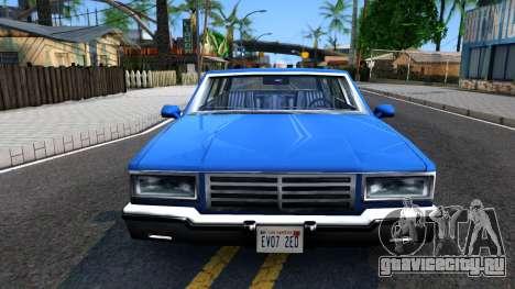 Premier Wagon для GTA San Andreas вид изнутри