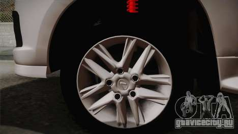 Lexus LX570 F-Sport Design для GTA San Andreas вид сзади слева