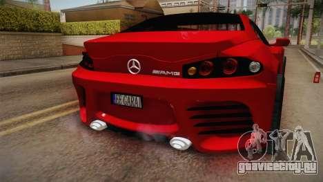Mercedes-Benz Concept для GTA San Andreas вид сзади