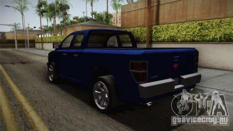 GTA 5 Bravado Bison для GTA San Andreas вид сзади слева
