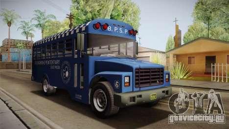 GTA 5 Vapid Police Prison Bus IVF для GTA San Andreas вид справа